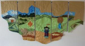 Mongolia map quilt