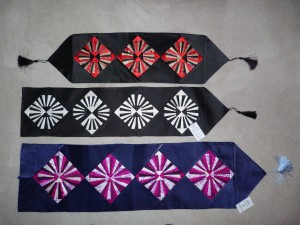 Silk table runners and wall hangings